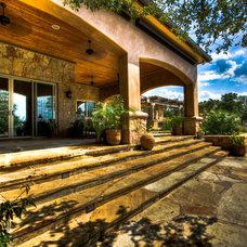 Mediterranean Exterior by Jeff Watson Homes, Inc.