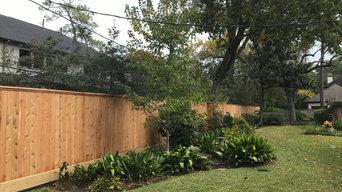8 foot cedar fence In Memorial