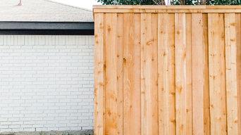 8' Privacy Fence, Cedar Pickets with trim - Rowlett, Texas