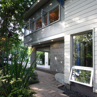 Example of a trendy exterior home design in Houston