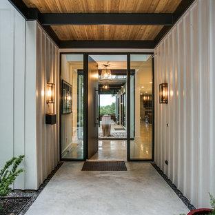 Idéer för funkis vita hus, med fiberplattor i betong