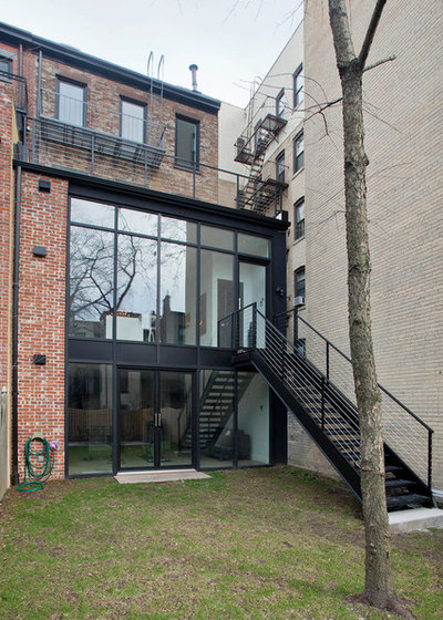Transitional Exterior by Jensen C. Vasil  Architect PC
