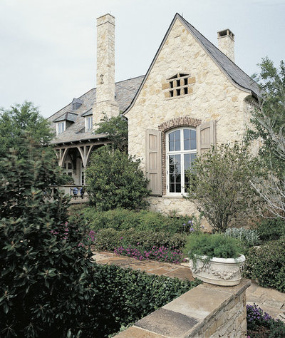 Architect ken tate reinvents historical style for French country brick exterior