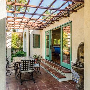 Tuscan exterior home photo in Santa Barbara