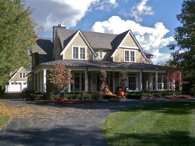 Farmhouse Exterior by Lewand Custom Homes