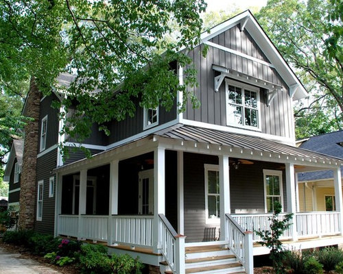 Craftsman gable roof home design ideas remodels photos for Craftsman gable