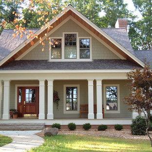Esempio della facciata di una casa american style