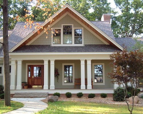 inspiration for a craftsman exterior home remodel in other - Exterior House Colors Brown