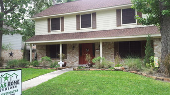 A Siding Job in Spring Texas with James HardiePlank Siding & Patio Cover.