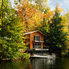 Houzz Tour: Lakeshore Bliss for a Cantilevered Vermont Home