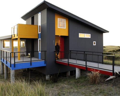 Grey composite decks houzz for Fiberon decking cost per square foot