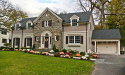 A traditional exterior fits seamlessly into the neighborhood