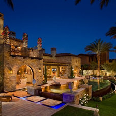 Mediterranean Exterior by South Coast Architects, Inc.