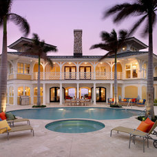 Tropical Exterior by Taylor Interior Design