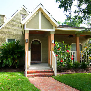 Design ideas for a traditional brick exterior in Houston.