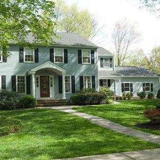 Elegant blue two-story exterior home photo in Philadelphia