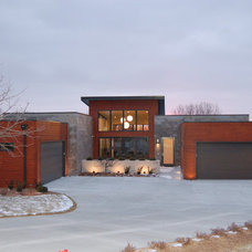 Modern Exterior by Advanced House Plans
