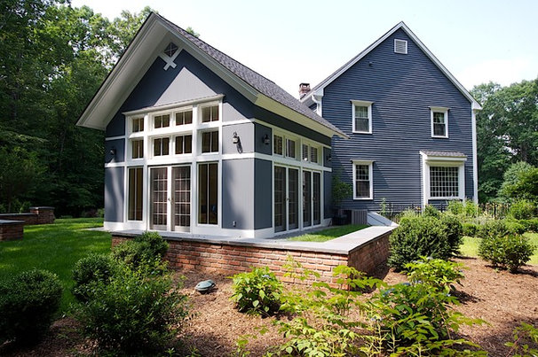 Eclectic Exterior by Duo Dickinson, architect