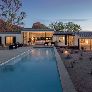 Example of a minimalist exterior home design in Phoenix
