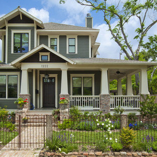 Arts and crafts two-story exterior home photo in Houston