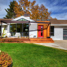 Midcentury Exterior by Field West Construction