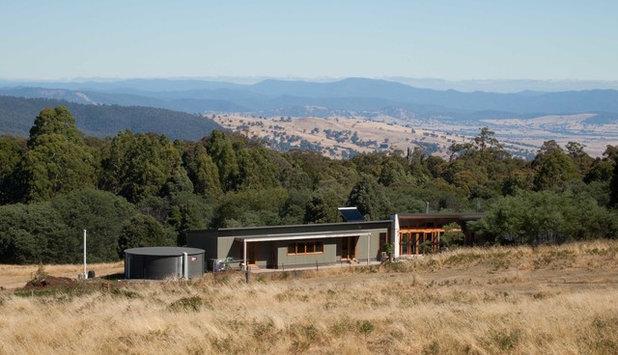 Модернизм Фасад дома by Habitech Systems