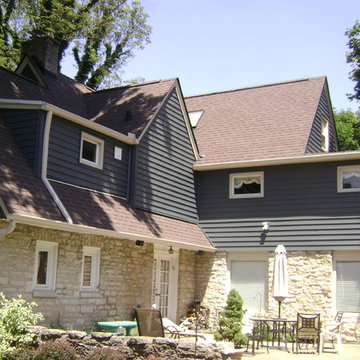 """Alside 7"""" Prodigy Vinyl Siding w/ Seamless Gutter and New Roof"""