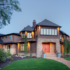 Traditional Exterior by Stephens Fine Homes Ltd
