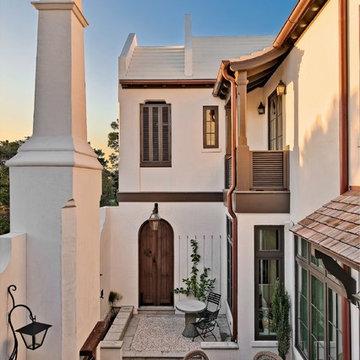 Alys Beach Courtyard House: Inside Out