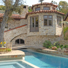 Mediterranean Exterior by Dixon Construction, Inc.