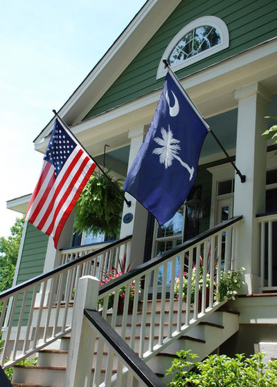 How to hang the american flag on a house houzz for 3 flag pole etiquette