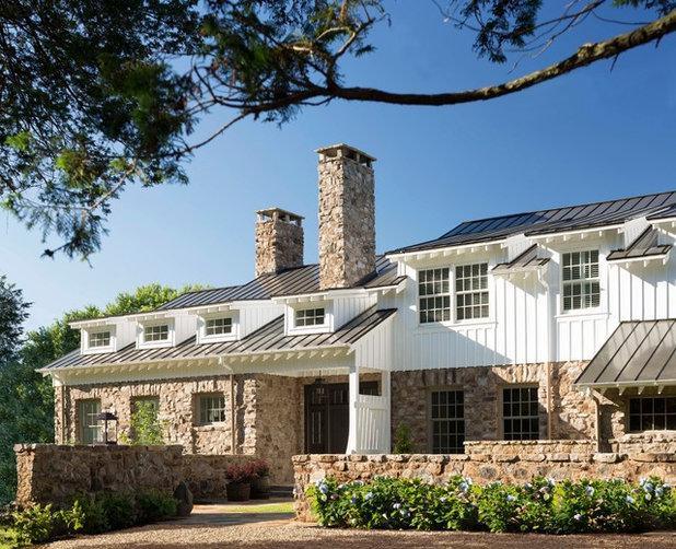 Farmhouse Exterior by Donald Lococo Architects