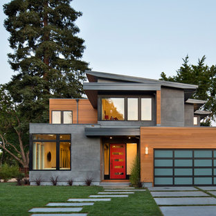 Contemporary two-story exterior home idea in San Francisco