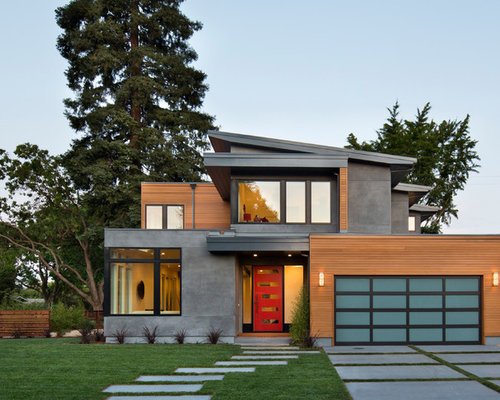 west coast contemporary front exterior houzz best front elevation designs 2014