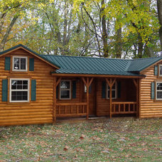 Rustic Exterior by Amish Cabin Company