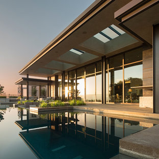 Inspiration for a modern exterior home remodel in Seattle