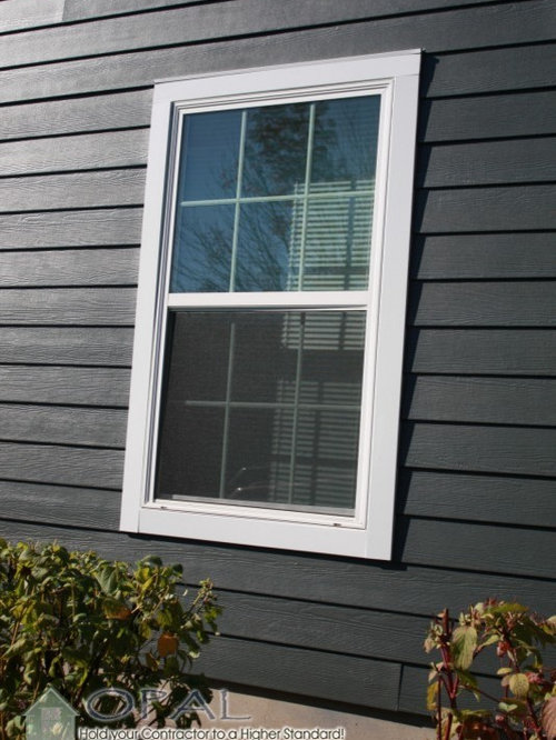 Bay Window Andersen Windows Amp Gray Siding Hardie Plank