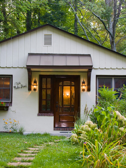 Small craftsman front door awning houzz for Small french country cottage