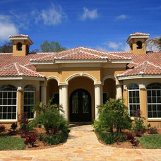 mediterranean exterior by Travertine Warehouse
