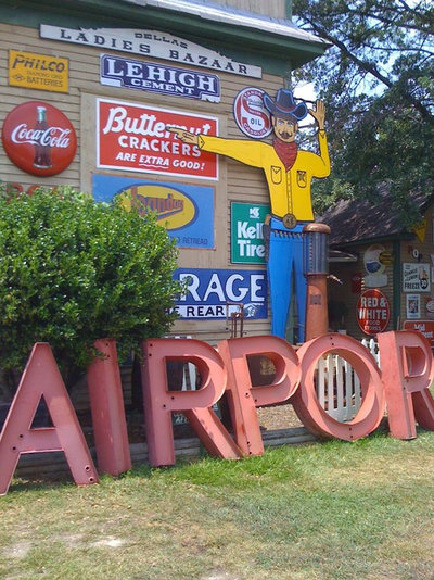 Eclectic Exterior Antique Signs