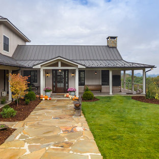 75 Most Popular Farmhouse Exterior Home With A Hip Roof