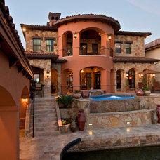 Mediterranean Exterior by Jenkins Custom Homes