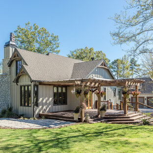 Ordinaire Inspiration For A Rustic Beige Two Story Gable Roof Remodel In Atlanta With  A Shingle