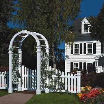 Arbor and Gate with Side Wings