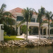 Mediterranean Exterior by Jerry Jacobs Design, Inc.