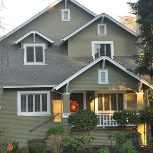 Craftsman wood gable roof idea in Sacramento