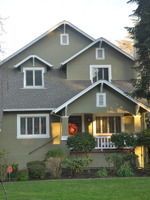 Exterior house colors with brown roof houzz - Exterior house colors brown ...