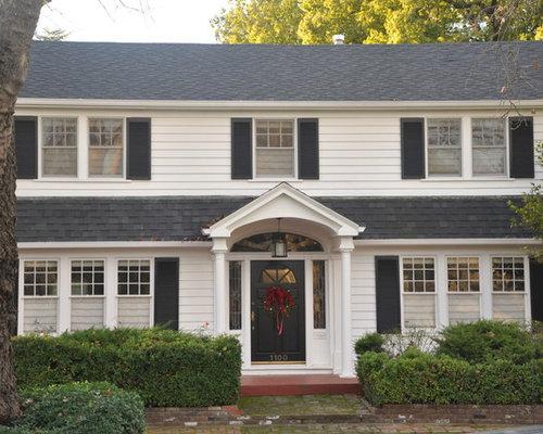 Front door overhang home design ideas renovations photos for Traditional front doors