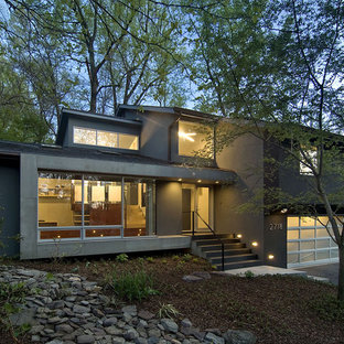 Contemporary Two Story Exterior Home Idea In Dc Metro