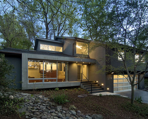 Split level home design ideas renovations photos for 70s home exterior remodel